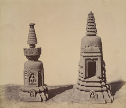 Two votive stupas from Bodh Gaya
